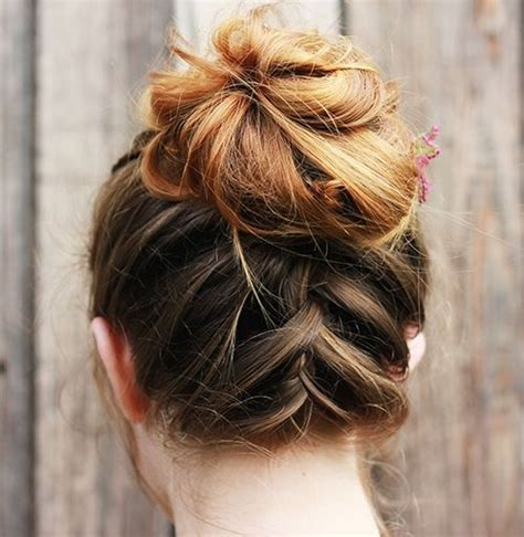 easy messy buns for shoulder length hair 54 easy updo hairstyles for medium length hair in 2017