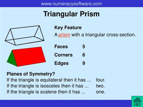 cross section of a triangular prism ppt properties of 3 d shapes powerpoint presentation