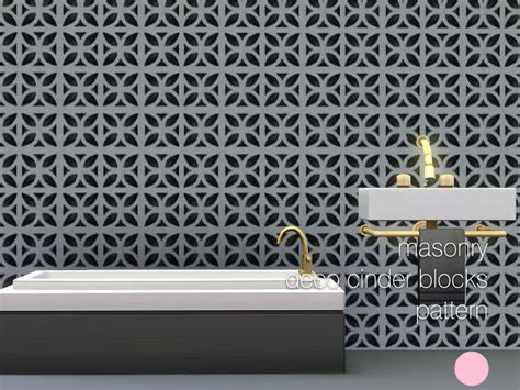 flower pattern concrete blocks dot s grey deco cinder blocks pattern