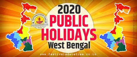 west bengal public holidays list  national  regional holidays  west bengal