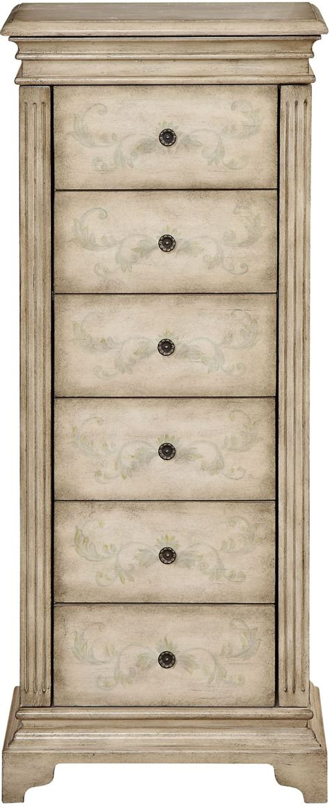 distressed jewelry armoire gilston distressed ivory jewelry armoire 91793 coast to