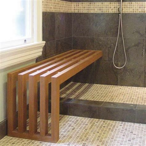 steam room benches teak 82 best images about bathroom on traditional