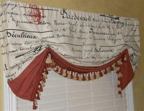 french script l shade french country script london balloon shade valance curtain
