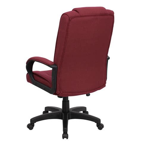 flash furniture high back burgundy fabric executive office