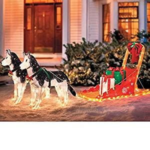 Directional Furniture by Amazon Com Lighted Christmas Sleigh With 2 Huskies