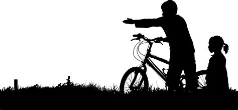 Clip Sepeda Bmx Black clipart and bike silhouette