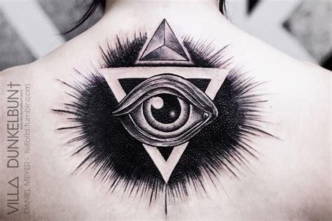 34 astonishingly beautiful eyeball tattoos triangle illuminati on back ink