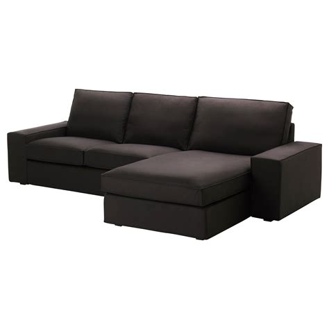 kivik sofa and chaise lounge kivik loveseat and chaise lounge idemo black ikea