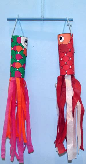 japanese craft for christmas koinobori toilet paper roll craft