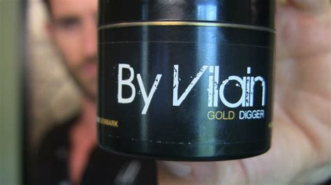 By Vilain Hair Pomade Gold Digger slikhaar tv by vilain gold digger product review