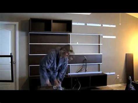 ikea besta wall mount ikea besta framsta wall mount entertainment center assembly part 3 vidoemo