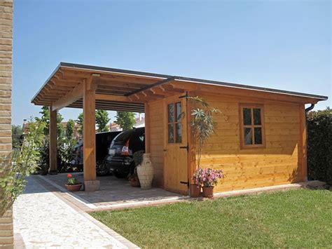 carport box auto legno lamellare prezzi car port in legno e casetta monofalda semi integrata cb02210