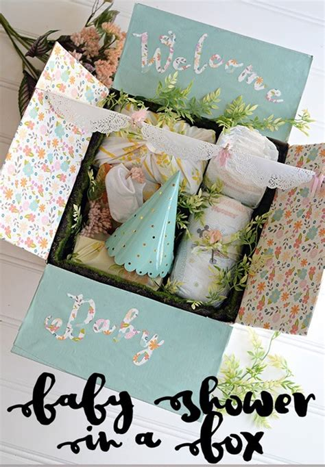 Baby Shower In A Box Ideas baby shower in a box morning loretta