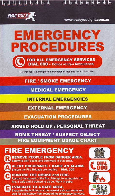 Emergency Procedure Guide Template by Emergency Procedures Flip Chart State One