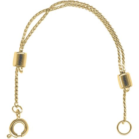 Gold Plated Chain, Necklace Extender, Sliding