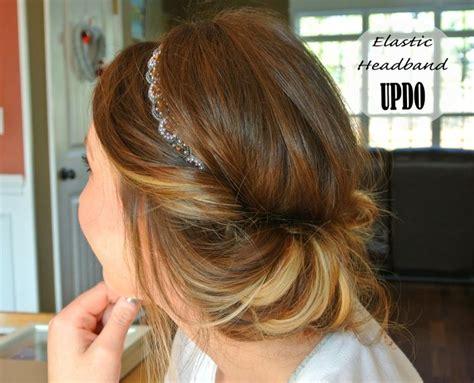 hairstyles with elastic headband elastic headband updo sequoia pinterest