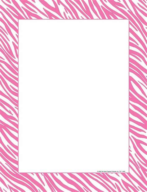 printable zebra border paper animal print border designs clipart best