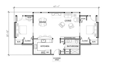 One Story Floor Plan Small One Story House Floor Plans Really Small One Story House Weekend Cottage Plans