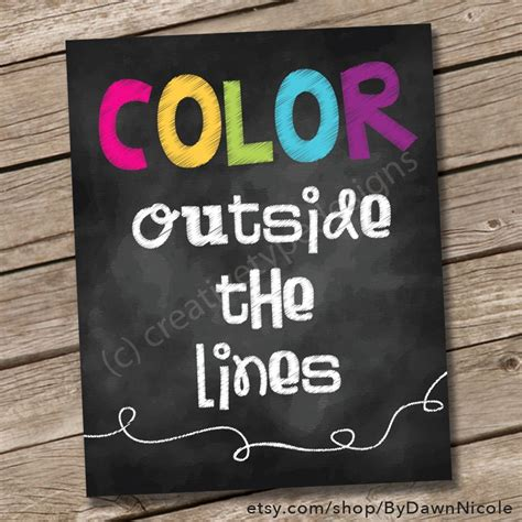 free printable color outside the lines chalkboard print