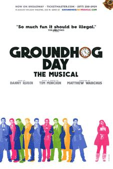 groundhog day musical soundtrack groundhog day the broadway musical poster posters window