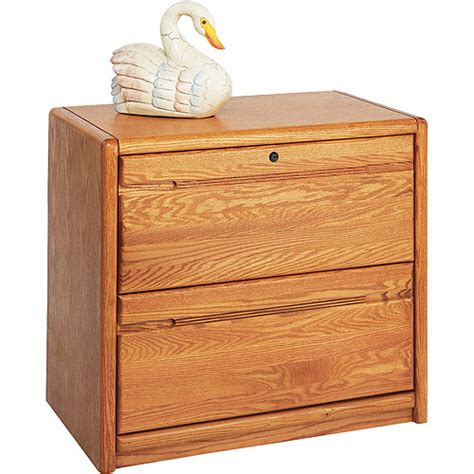 Oak File Cabinets by Classic Oak 2 Drawer Lateral File Cabinet Medium Oak
