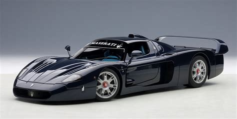 Maserati Car Models by Maserati Mc12 In Metallic Blue Model Car In 1 18 Scale By