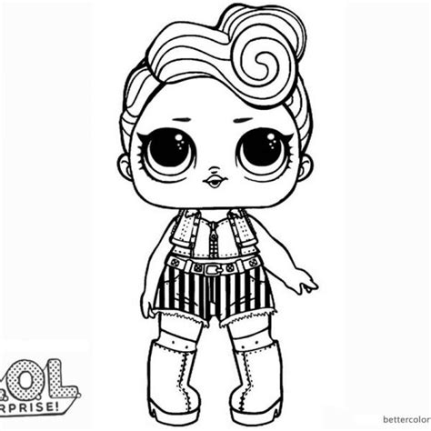 lol surprise doll coloring pages funky qt coloring pages