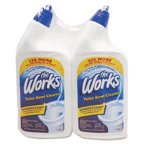 septic safe bathroom cleaners the works disinfectant toilet bowl cleaner 32 oz bottle
