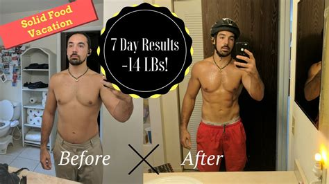 1 Week Detox Before And After by Amazing 7 Day Juice Fast Transformation Day By Day Pics