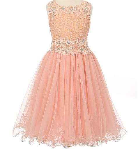 Pink Flower Dress flower dress blush pink lace embellished with
