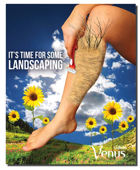 venus razor ads surrealism ad poster gillette venus on behance