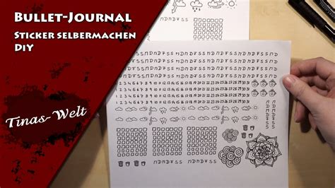 Sticker Selber Machen Diy by Bullet Journal Sticker Selber Machen Diy Youtube
