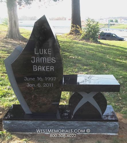 Stone Benches For Cemetery Baker With Matching Bench Headstone In Black Granite