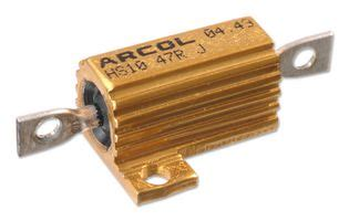 arcol resistors hs25 hs25 5r j arcol resistor axial leaded 5 ohm 25 w 550 v 177 5 hs series wirewound