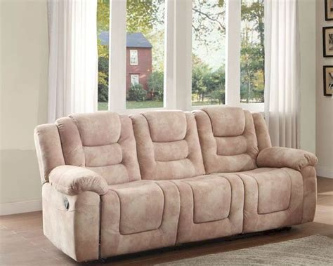double reclining console sofa double reclining sofa freya by homelegance el 8513 3