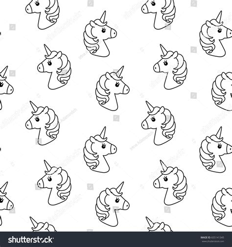 cute baby pattern stock vector image of horse collection unicorn vector seamless pattern horse head stock vector