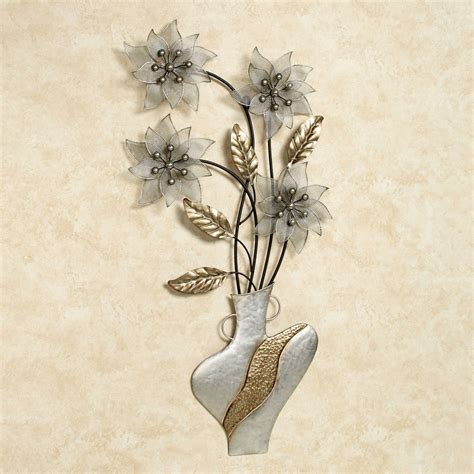 blooming melody floral metal wall