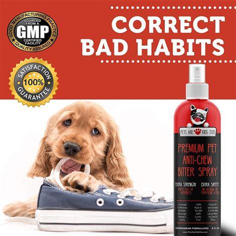 anti chew dog training spray pets  kids