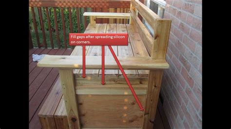 how to make a patio bench how to build outdoor weather resistant multi function
