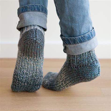 knitting pattern socks chunky chunky slippers pattern knitting patterns and crochet