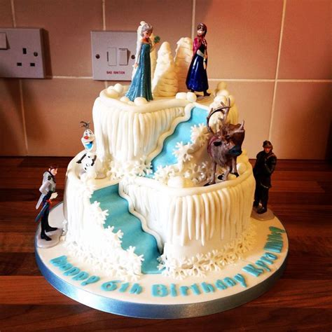 2 tier frozen double stair well cake   Cakes in 2019