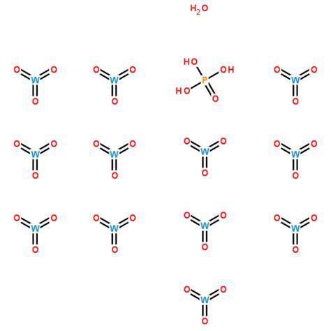Tungstophosphoric Acid Hydrate 1005830100 12501 23 4 磷钨酸水合物cas号 12501 23 4 磷钨酸水合物中英文名 分子式 结构式 960化工网
