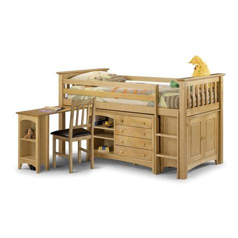 kids cabin bed in pine girls beds cuckooland