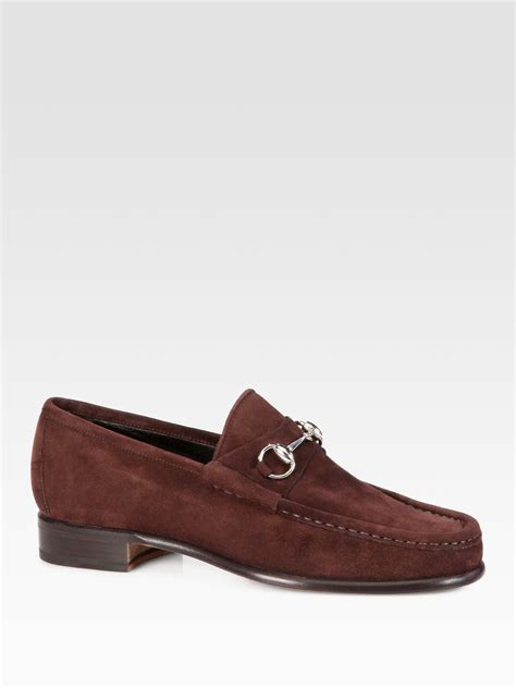 mens gucci loafers sale gucci loafers in brown for lyst