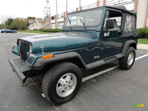 jeep gray color 1995 emerald green pearl jeep wrangler s 4x4 38917876