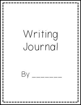 writing journal cover and lined page format free by simply in teachers pay teachers