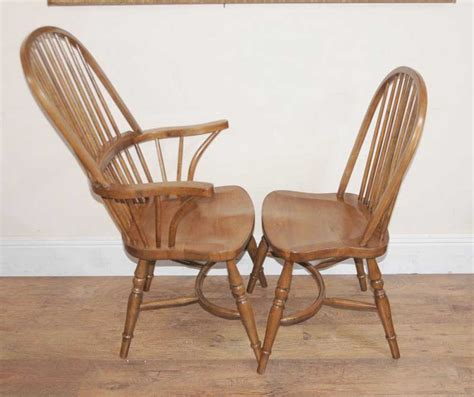 8 Oak Windsor Kitchen Dining Chairs Farmhouse Chair Farm Dining Chairs