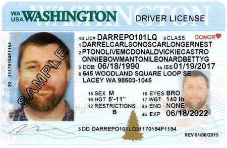 washington state id card template cdl licensing express