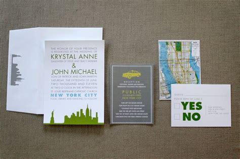 City Themed Wedding Invitations by 22 Best Nyc Theme Invites Images On New York