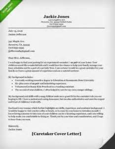 Child Caregiver Cover Letter by Nanny And Caregiver Cover Letter Sles Resume Genius